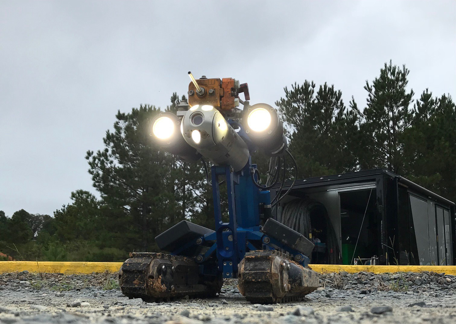 OnSpec Robot Spraybot for Pipeline Decommissioning
